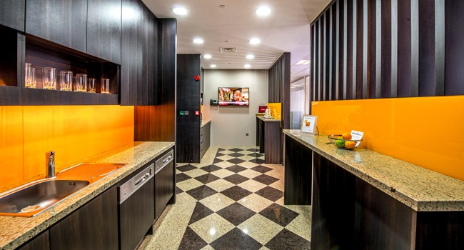Kitchen Facility in Office place ALMAS TOWER