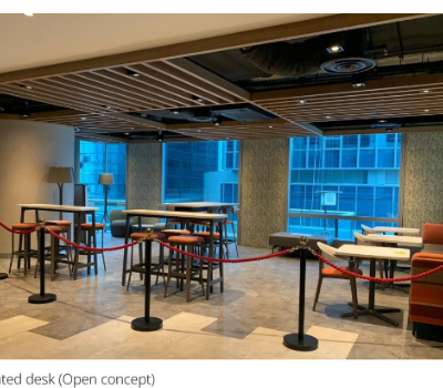 Dedicated desk & co-working space at Capital Tower